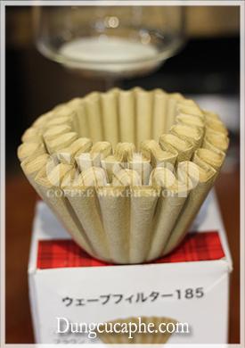 Giấy lọc cà phê Kalita Wave 185 không tẩy trắng