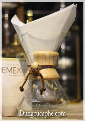 Giấy lọc cà phê bình Chemex 6 cup - loại hình vuông