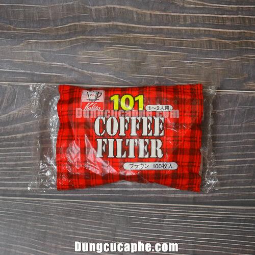 Giấy lọc cà phê pha Drip Kalita 101 nón cụt