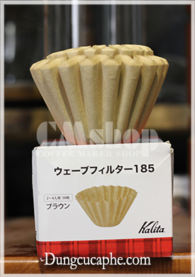Giấy lọc cafe Kalita Wave 185 ( Hộp 50 bộ lọc)