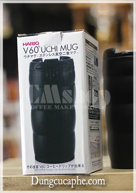 Hộp cốc cà phê giữ nhiệt Hario màu đen