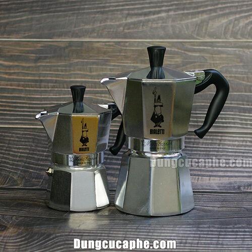 Hai dòng ấm Moka Pot Express 3 cups và 6 cups