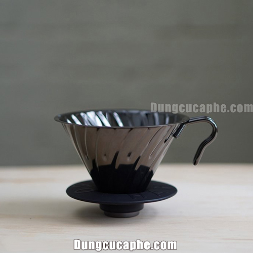 Hario Metal Black V60 VDM-02BC – Phễu lọc cà phê Made in Japan