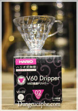 Hario V60 Dripper VD-02 Transparent
