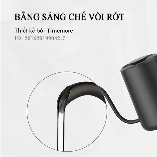 ID bằng sáng chế vòi rót của ấm Timemore