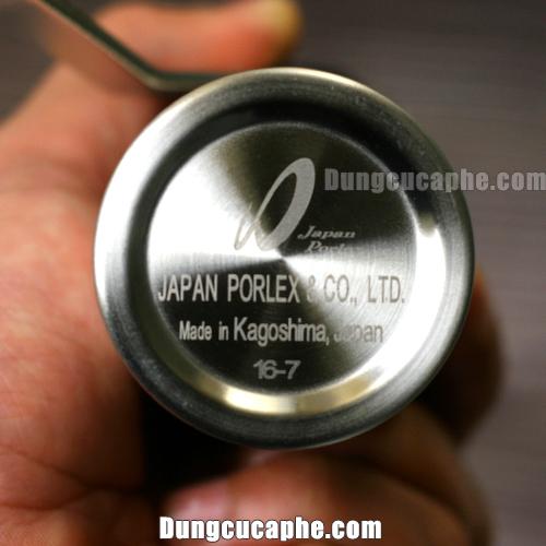 Logo Coffee Grinder Japan Porlex made in Kagoshima in dưới đáy