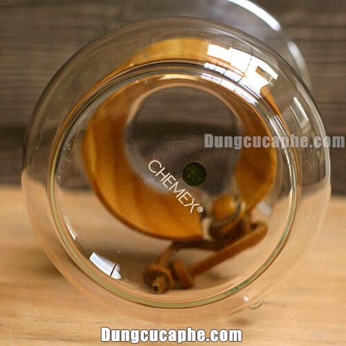 Logo chính hãng của bình pha cà phê Chemex 6cups đai gỗ dây da