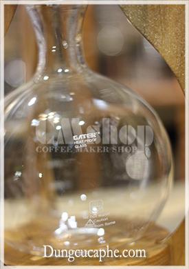 Logo gater trên các linh kiện thủy tinh của bộ pha cà phê lạnh