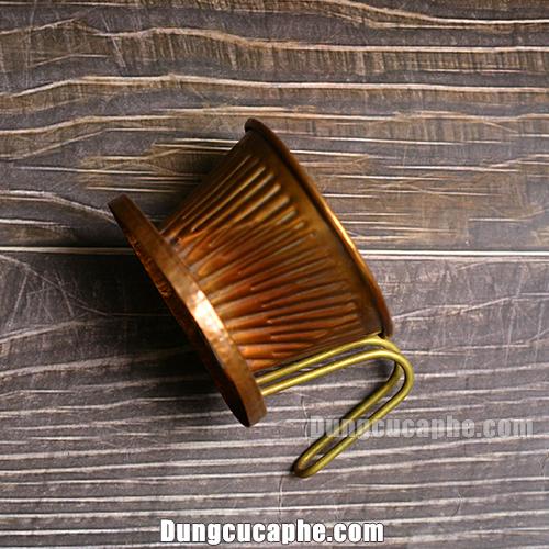 Mặt nghiêng của phễu lọc cà phê Hammer 101 Copper