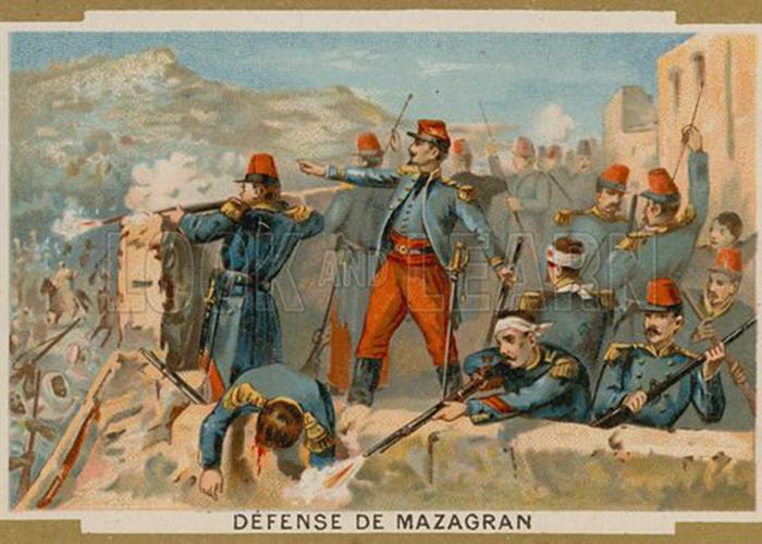 Những người lính Pháp cố thủ ở pháo đài Mazagran