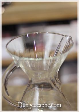 Miệng bình Chemex 6 cup rất rộng