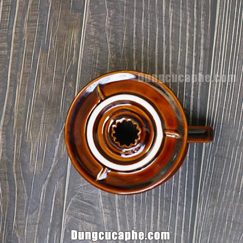 Phần đáy của phễu lọc cà phê Pour Over