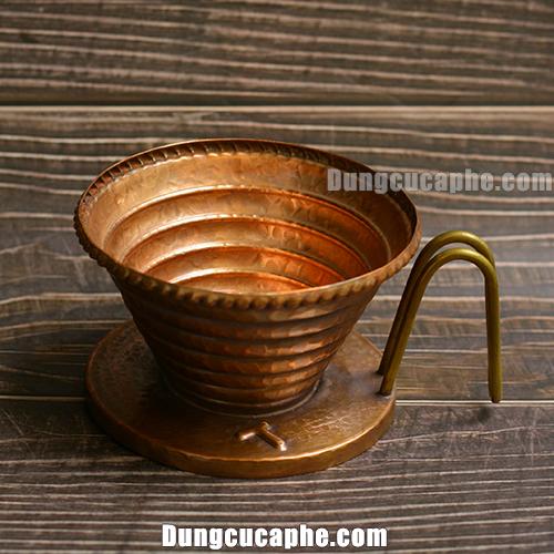 Phễu cà phê làm thủ công bằng đồng đỏ Hammer Wave 185 – Korea