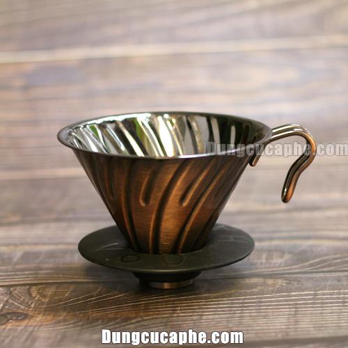 Phễu lọc Hario Metal 2 cup Copper mạ đồng thau