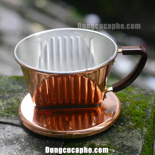 Phễu lọc cà phê đồng Kalita 101 - Nhật Bản