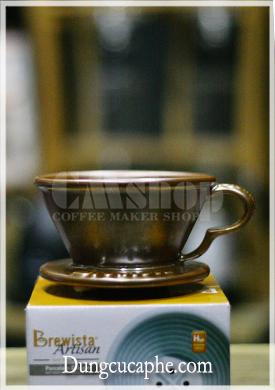 Phễu lọc cà phê Drip Brewista NEXT WAVE Porcelain 1-2cups màu nhũ đồng