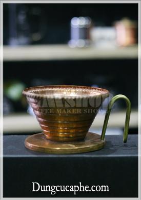 Phễu lọc cà phê Hammer Wave 185 đồng đỏ làm thủ công bằng tay.