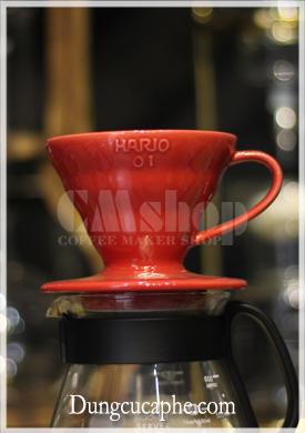 Phễu lọc cà phê Hario V60 Dripper VDC-01 sứ đỏ
