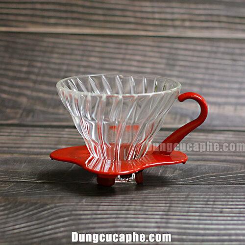 Phễu lọc cà phê Hario V60 thủy tinh VDG-01B version 2.0.