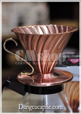 Phễu lọc cà phê bằng đồng Hario V60 Copper Dripper