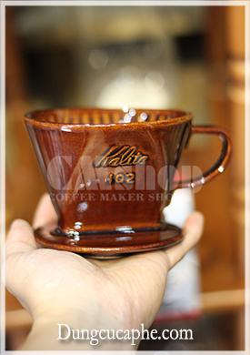 Phễu lọc cà phê gốm màu nâu Kalita 102 - Nhật Bản