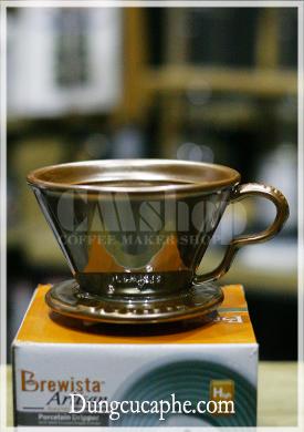 Phễu lọc cà phê sứ Brewista NEXT WAVE 1-4cups màu nhũ đồng