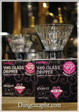 Phễu lọc cà phê thủy tinh Hario V60 Glass Dripper VDGN-02 vs phễu lọc Hario Glass Dripper VDGN-01