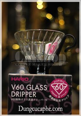 Phễu lọc cà phê thủy tinh Hario V60 Glass Dripper VDNG-01