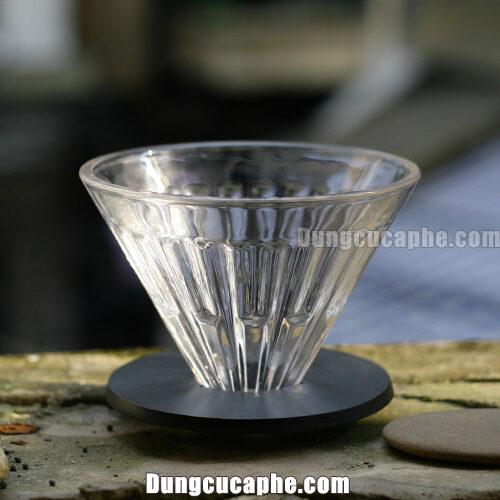 Phễu lọc cà phê thủy tinh Timemore Crystal Eye size 02