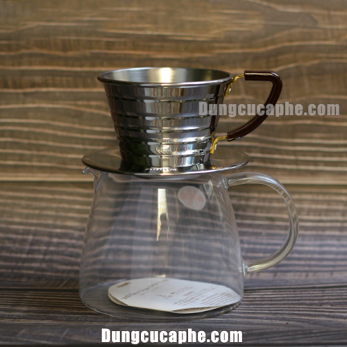 Phễu lọc cafe Kalita 155 size nhỏ rất phù hợp cho các loại bình đựng cỡ nhỏ