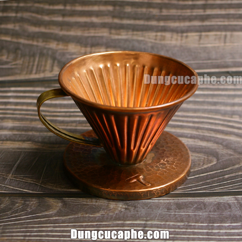 Phễu lọc cafe V60 Copper Hammer size 01 – Made in Indonesia