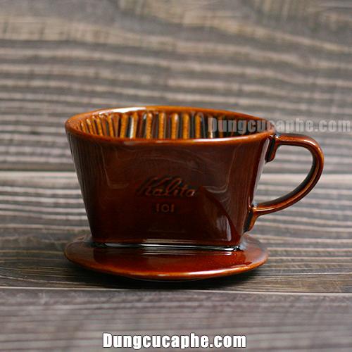 Phễu lọc cafe gốm nâu Kalita 101 – Japan