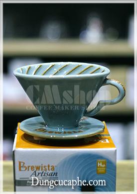 Phễu lọc gốm pha cà phê V60 Brewista Tornado Porcelain 01