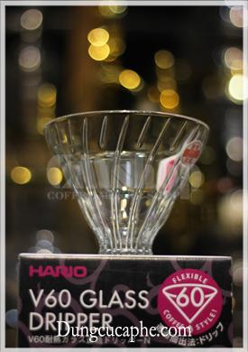 Phễu lọc pha cà phê bằng thủy tinh Hario V60 Glass Dripper VDNG-01
