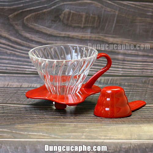 Phễu lọc thủy tinh V60 Hario size 1-2 cups Made in Japan