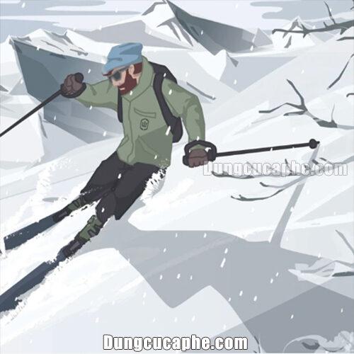 Phiên bản đặc biệt trượt tuyết của dụng cụ pha Espresso Wacaco Nanopresso