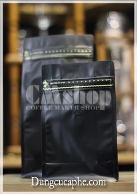 Túi zip van 1 chiều màu đen, lót bạc 250g