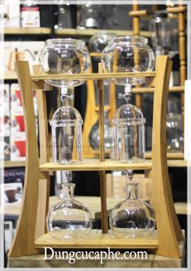 Tháp đôi pha cà phê Cold Drip khung gỗ tre 2000ml Gater BD-520