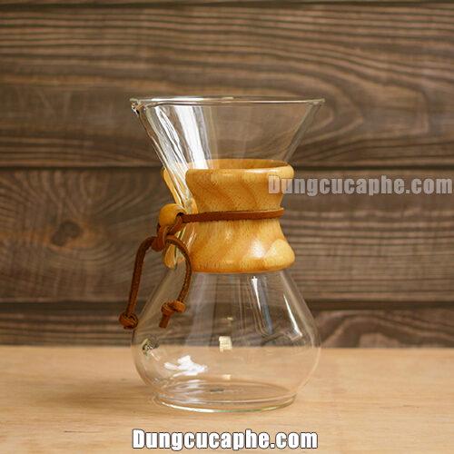 Thiết kế tuyệt đẹp của bình pha cà phê Chemex cổ điển 6cups