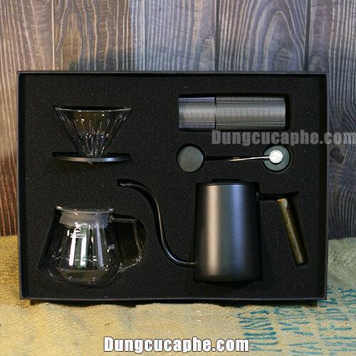 Timemore C2 Coffee Drip Set Black-Mảnh ghép hoàn hảo để bắt đầu với đam mê Pour Over