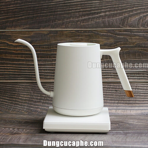 Timemore FISH Smart Electric Pour Over Kettle White 1000ml Vuốt chỉnh nhiệt độ