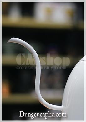 Vòi rót cổ ngỗng 5mm của ấm Brewista Artisan trắng