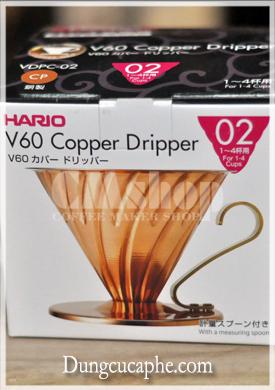 Vỏ hộp của phễu lọc cà phê Hario V60 Cooper Dripper