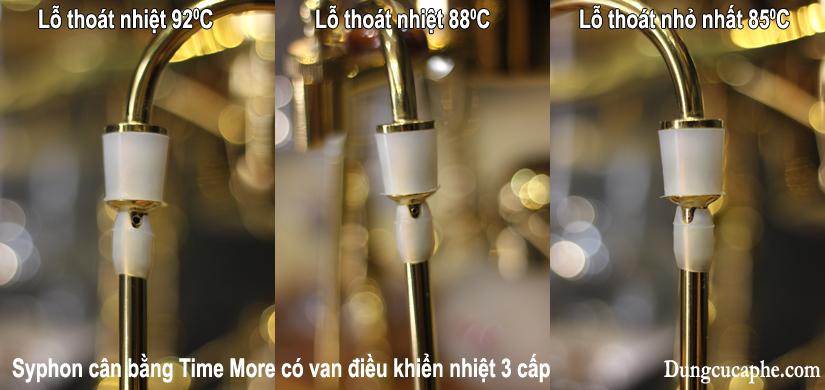 Van điều chỉnh nhiệt 3 cấp của syphon cân bằng Time More 85-88 và 92 độ